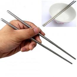 1 par de palillos de acero inoxidable antideslizantes palillos ecológicos vajilla suministros de cocina