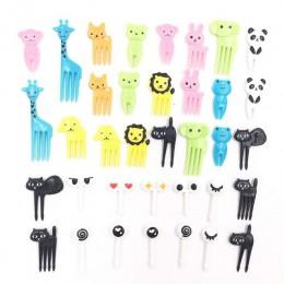36 Uds. Alimentos de animales encantadores tenedores de frutas snacks postres tenedores selección de alimentos Bento accesorios