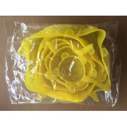 Juego de tapas de 6 piezas hechas en silicona tapas reutilizables cubiertas herméticas para almacenar comida tapas selladoras de