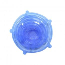 6 unids/set tapas elásticas de silicona de copo de nieve de red tapas universales para mantener los alimentos de almacenamiento
