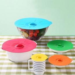 La Olla de cocina Pan tapa de silicona herramientas de la cocina fresca mantener reutilizable 1PC envolver comida de microondas
