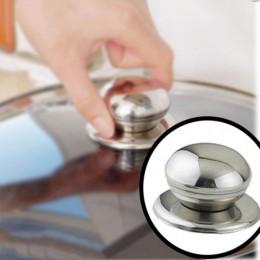 Nueva herramienta de cocina, utensilios de cocina reemplazables de acero inoxidable, olla de vidrio, tapa, manija, manija, agarr