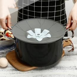 Nuevos dispositivos de cocina tapa de silicona de flor tapa de tapón de derrames cubierta de tazón de olla Anti-desbordamiento t