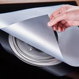 4 unids/set reutilizable no autoadhesivo de papel de limpieza de alfombra para protectores de horno a Gas cubierta láminas cocin