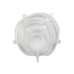 6 unids/set tapa para comida de silicona reutilizable envolver el sello al vacío envolver el plato de la Organización de la coci