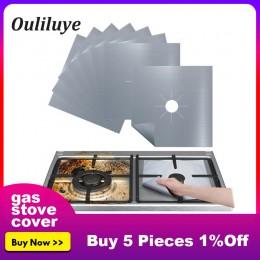 Lo más nuevo 4 uds/1 Uds papel de aluminio reutilizable tapa para cocina a Gas Protector estufa quemador lámina para cocina estu