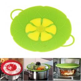 Herramientas de cocina multifunción piezas de utensilios de cocina de flores silicona verde hervidor sobre tapa de derrames tapó