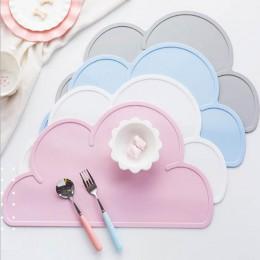 1 Uds. Mantel para niños en forma de nube alfombrilla para mesa de silicona de grado alimenticio impermeable aislante térmico ga