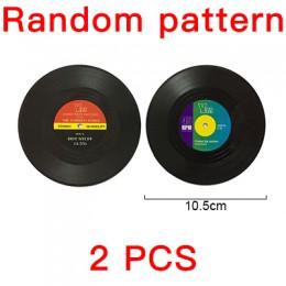 2, 4, 6 unidades de manteles individuales de discos de vinilo de plástico ecológico, posavasos para tazas sencillos y creativos,