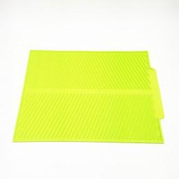 Alfombrilla de secado de Plato cuadrado de silicona, vajilla de alta calidad resistente al calor, almohadilla de amortiguador du