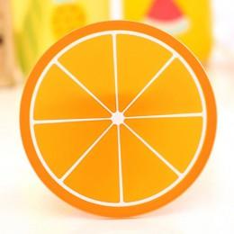 Posavasos caliente forma de fruta almohadilla de silicona almohadilla de aislamiento deslizante almohadilla de la taza almohadil