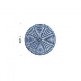 Posavasos Mesa estera de aislamiento de ramio sólido diseño redondo manteles Lino accesorios de cocina antideslizantes