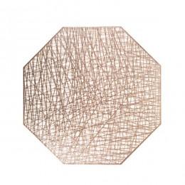 Baispo manteles de PVC octogonal hueco impermeable antideslizante de mesa esteras calor aislado alfombrilla de decoración del ho