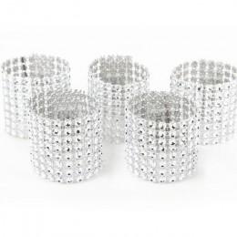 10 Uds. De oro anillo de plata para servilleta sillas hebillas decoración para evento de boda artesanías de diamantes de imitaci