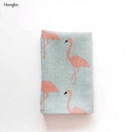Hongbo 1 Uds manteles individuales de algodón a cuadros estilo japonés de moda manteles de mesa servilletas Simple vajilla con d