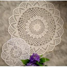 2 tamaños nuevos 2019 manteles individuales de algodón taza de posavasos cocina MESA DE BODA lugar alfombra tela encaje ganchill