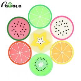 Juego de 7 Uds. Posavasos de frutas coloridos mantel antideslizante taza de café tapete almohadillas soporte de bebida manteles