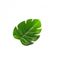 6 piezas hojas de palmera artificiales tropicales posavasos EVA taza almohadilla café esterillas de tazas de té posavasos Hawaii
