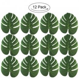 Our warm 12 Uds. Artificial palmera posavasos individuales de mesa hojas de imitación tetera estera diseño tropical Hawái fiesta