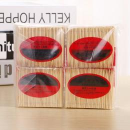 100 unids/caja palillos de bambú de buena calidad palillos de dientes naturales desechables palillos de dientes afilados únicos