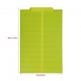 Estera rectangular de desagüe de silicona almohadilla para secar platos bandeja antideslizante resistente al calor juego de este
