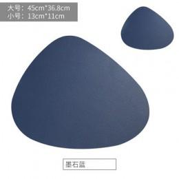 Elegante almohadilla de mesa de cuero PU impermeable aislamiento térmico antideslizante mantel suave Khaki negro Brwom lavable B