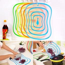 1 Pza tabla de cortar de plástico antideslizante esmerilado tabla de cortar de cocina herramientas de carne vegetal accesorios d