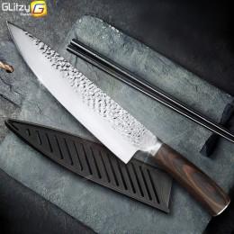 Cuchillo de cocina de 8 pulgadas profesional Chef japonés cuchillos 7CR17 440C con alto contenido de carbono de carne de acero i