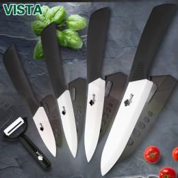 Cuchillos de cerámica cuchillos de cocina 3 4 5 6 pulgadas Chef cuchillo Set + pelador blanco zirconia hoja Multi-color mango de