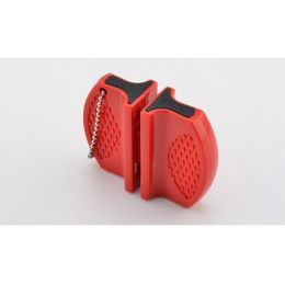 Mini afilador de cuchillos de cocina portátil herramientas de cocina accesorios creativo tipo mariposa de dos etapas Camping afi