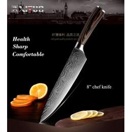 "XITUO alta calidad 8 ""pulgadas cuchillo de Chef utilitario láser Damasco acero Santoku cuchillos de cocina cuchilla afilada cuch"