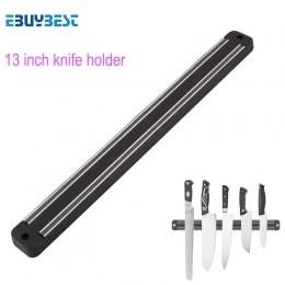 Soporte magnético para cuchillos de alta calidad de 13 pulgadas soporte de pared negro ABS metal cuchillo para bloque de plástic