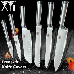 XYj cuchillos de cocina de acero inoxidable juego de herramientas para cortar frutas Santoku Chef rebanar pan japonés juego de c