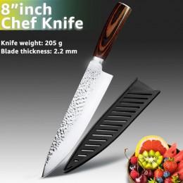 Juego de cuchillos de cocina cuchillos de Chef japoneses 7CR17 440C de acero inoxidable de alto carbono Santoku rebanador de car