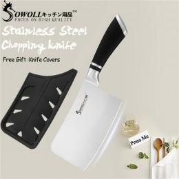Cuchillos de cocina SOWOLL cuchillos de acero inoxidable herramienta de corte Santoku pan rebanado Chef cuchillo de cortar acces