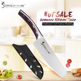 """Marca SOWOLL 4cr14mov hoja de acero inoxidable solo 6 """"Cuchillo de Chef mango de fibra de resina cuchillo de cocina herramientas"""