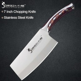Cuchillo de acero inoxidable Sowoll soldadura sin costura mango de fibra de resina cuchilla de alto carbono Utility Chef cuchill