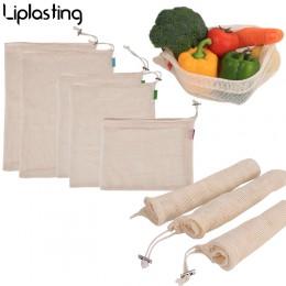 Bolsas reutilizables respetuosas con el medio ambiente para productos lavables bolsas para el almacenamiento de frutas vegetales