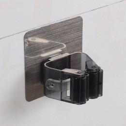 Soporte organizador de fregona montado en la Pared Soporte de cepillo autoadhesivo gancho para escoba cocina baño estantes de al