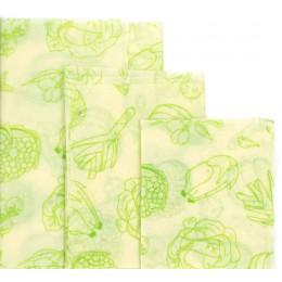 Envoltura de tela de cera de abejas reutilizable bolsa fresca cubierta de la tapa del estiramiento de las abejas del Partido de