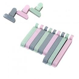 12 unids/set bolsa de plástico selladora Snack bolsa de almacenamiento de alimentos frescos Clips herramienta de cocina accesori