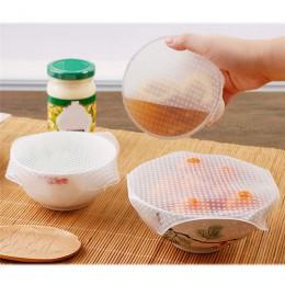 4 Uds. Envoltorio de silicona para alimentos, sello reutilizable para mantener los alimentos frescos, cubierta de la tapa, acces