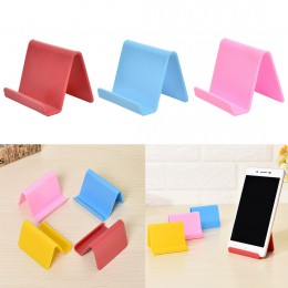 Soporte de plástico para teléfono, soporte fijo, organizador de color dulce para cocina, Mini portatil para tarjetas de visita,