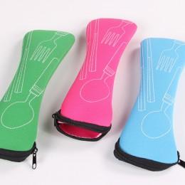 1 Uds bolsa de cuchillos de viaje caja de almacenamiento de embalaje de viaje vajilla portátil de picnic tenedor bolsa para cuch