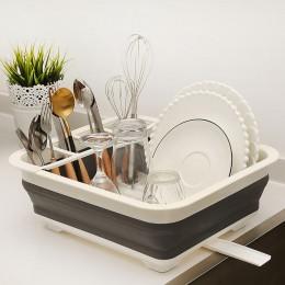 Estante plegable para platos soporte de almacenamiento de cocina tazón de drenaje plato de vajilla estante de secado portátil es
