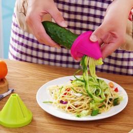 1 Uds. Cortador de verduras de plástico en espiral rebanadoras peladoras de frutas Dispositivo de cocina accesorios de utensilio
