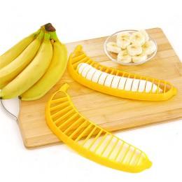 Cocina Gadgets Banana de plástico cortador frutas herramientas vegetales ensalada fabricante de cocina herramientas de cocina co