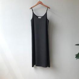 Mooirue primavera 2019 mujer vestido sin mangas Casual satén Sexy camisola elástico Mujer hogar playa vestidos