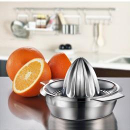KEMORELA Mini citrus naranja limón Acero inoxidable exprimidor de frutas prensado a mano 100% jugo crudo para una vida saludable