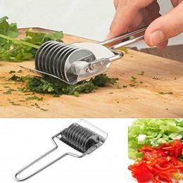 Gadget de acero inoxidable rebanador de cebolla ajo cilantro herramienta cortadora de cocina para la cocina buen asistente